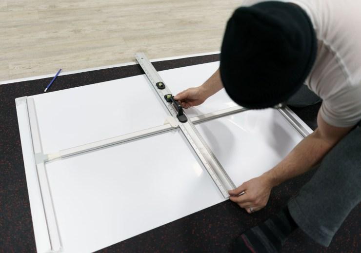 Installing huge prints in a gym