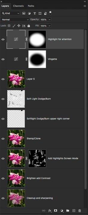 photoshop layer palette