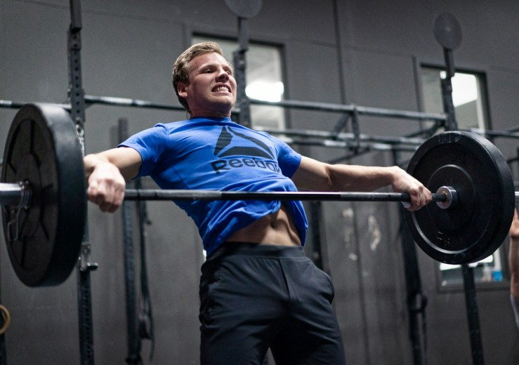 CrossFit athlete snatch pull