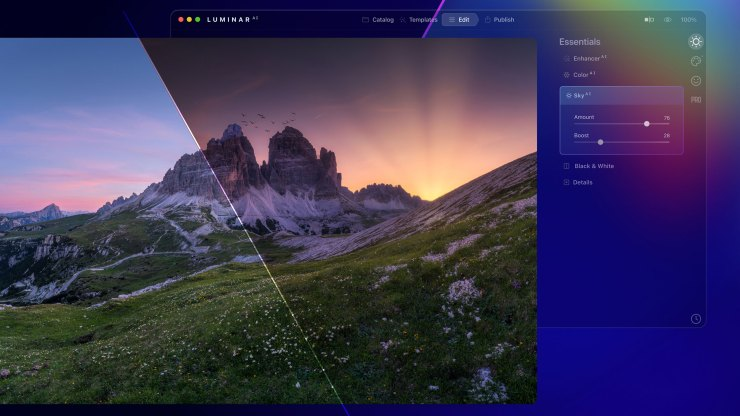 Luminar<sup>AI</sup> looks to reinvent the world of photo editing