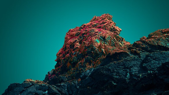 Reimagining Kynance Cove through color manipulation
