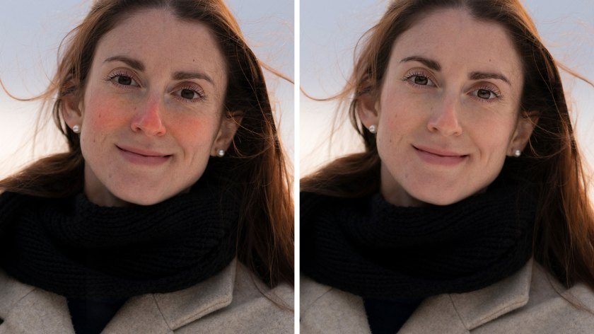 How to get rid of redness in cheeks and noses in Luminar<sup>AI</sup>