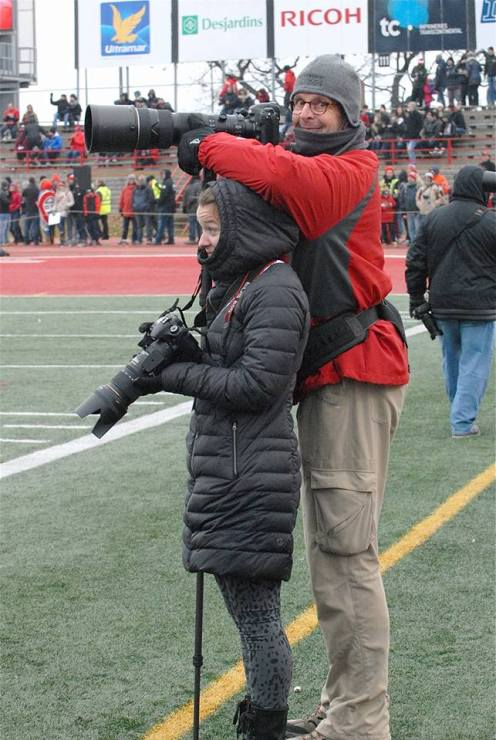 Tall short photographers