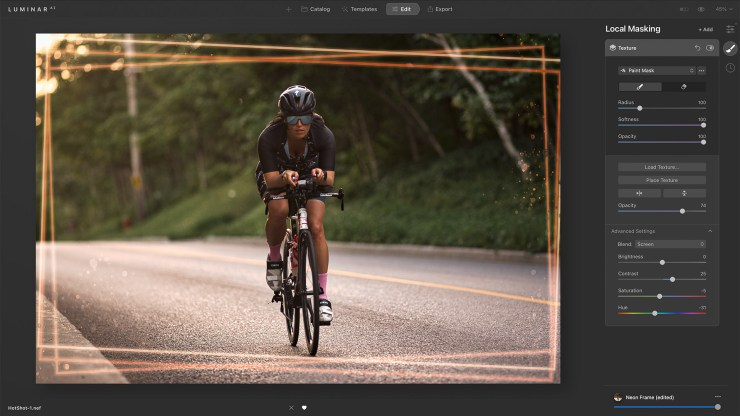 layered template frame cycling