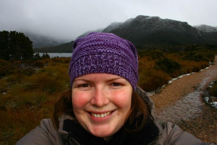 Selfie of woman on Cradle Mountain