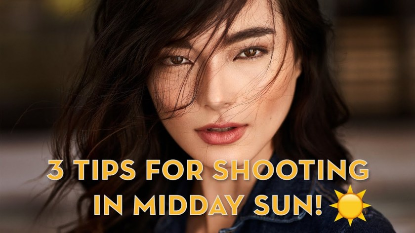 Creating Flattering Portraits in midday Sunlight ☀️ - youtube