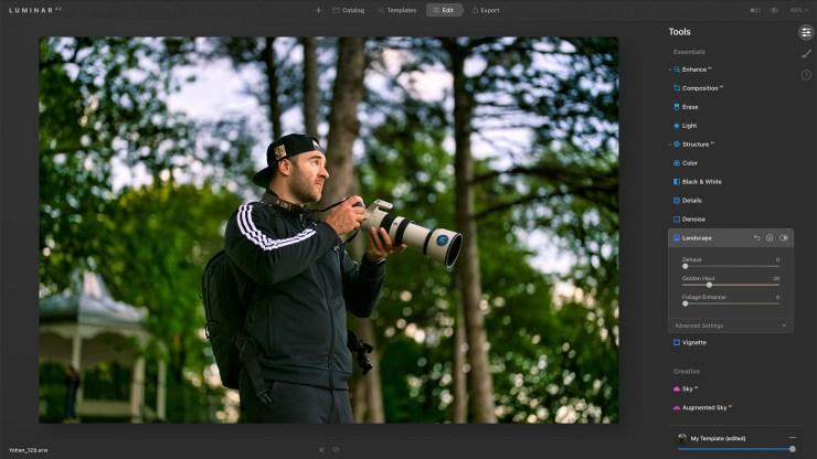 Male photographer summer