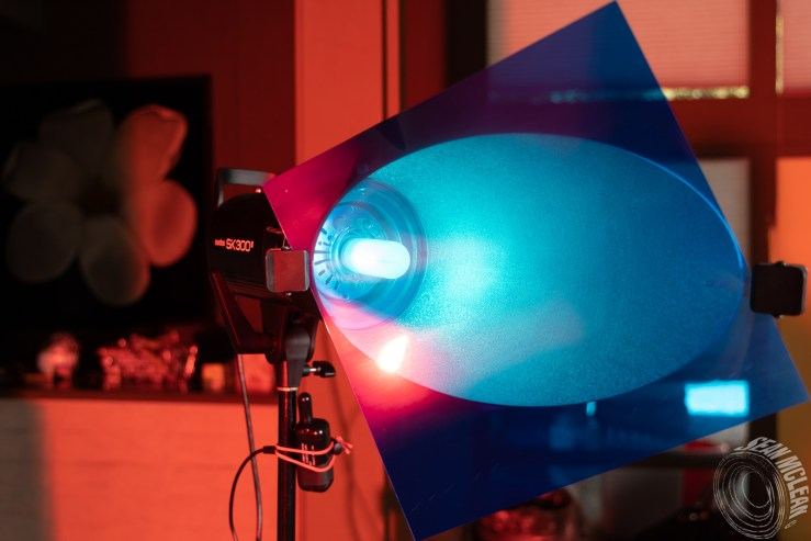 Impact Background Reflector with a blue gel