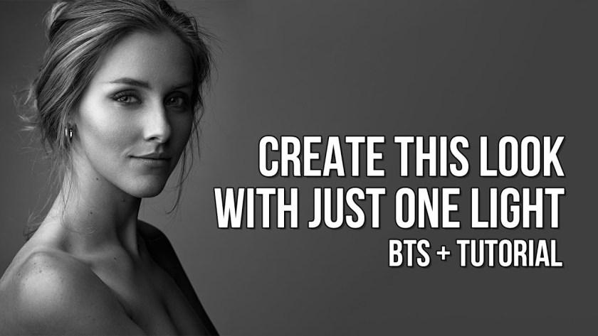 Create beautiful black and white portraits using one light