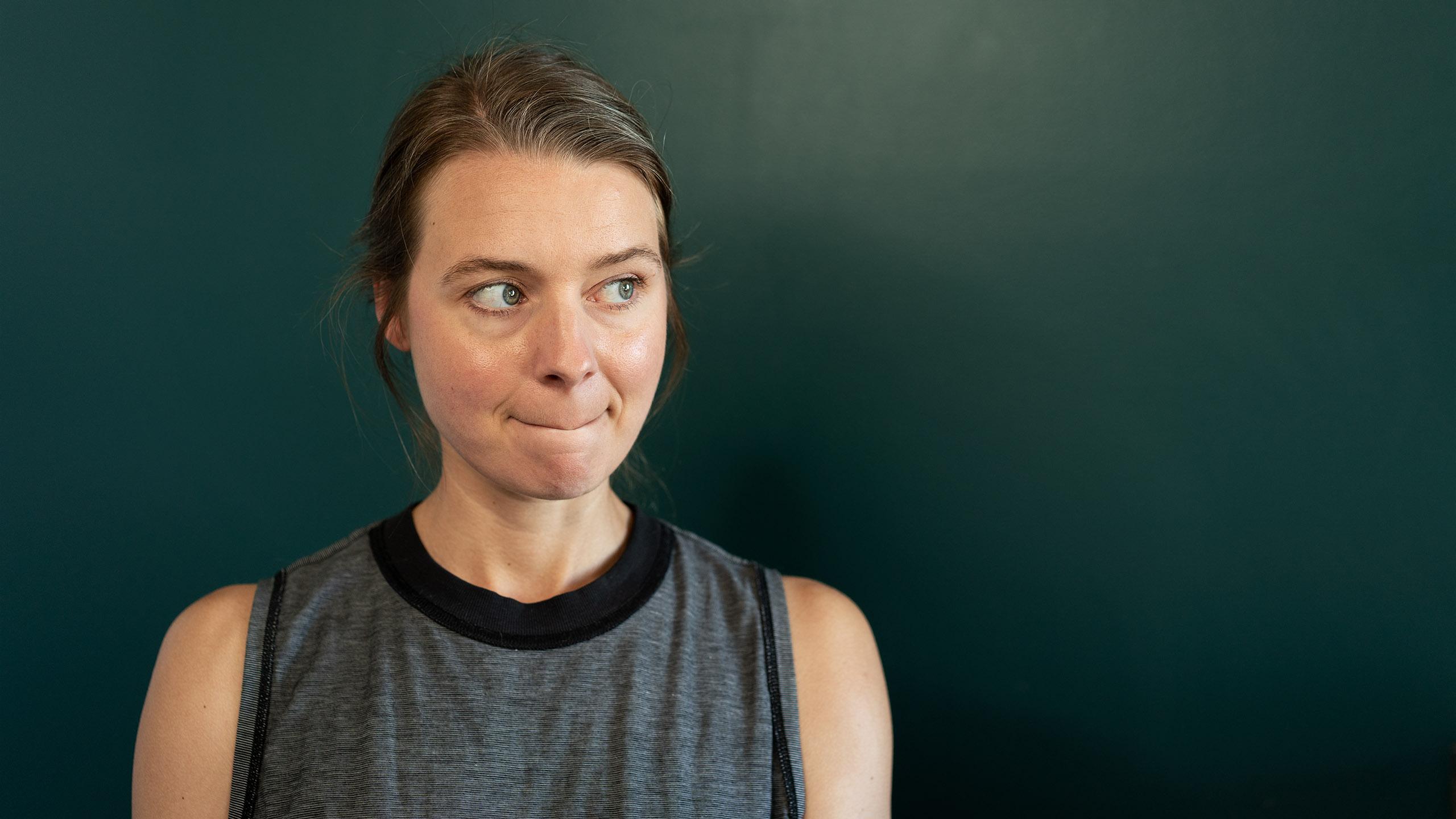Female photographer mistake portrait