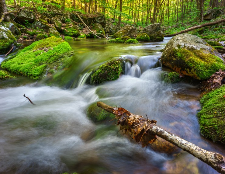 Waterfall cascade along Mount Pleasant, Amherst VA