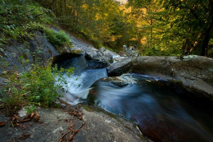 Waterfall cascade along the Appalachian Trail in Buena Vista VA