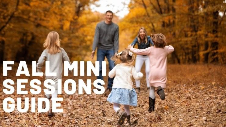 How to do fall mini sessions - 20 min seasonal photo shoots - youtube