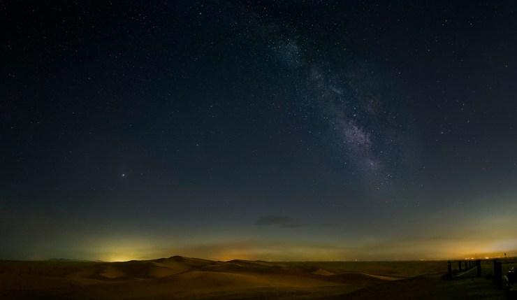 Brawley CA milky way over the desert dunes
