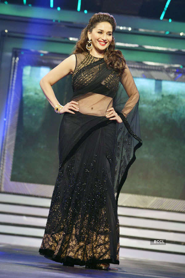 Madhuri Dixit Sizzles The Ramp In A Transparent Black