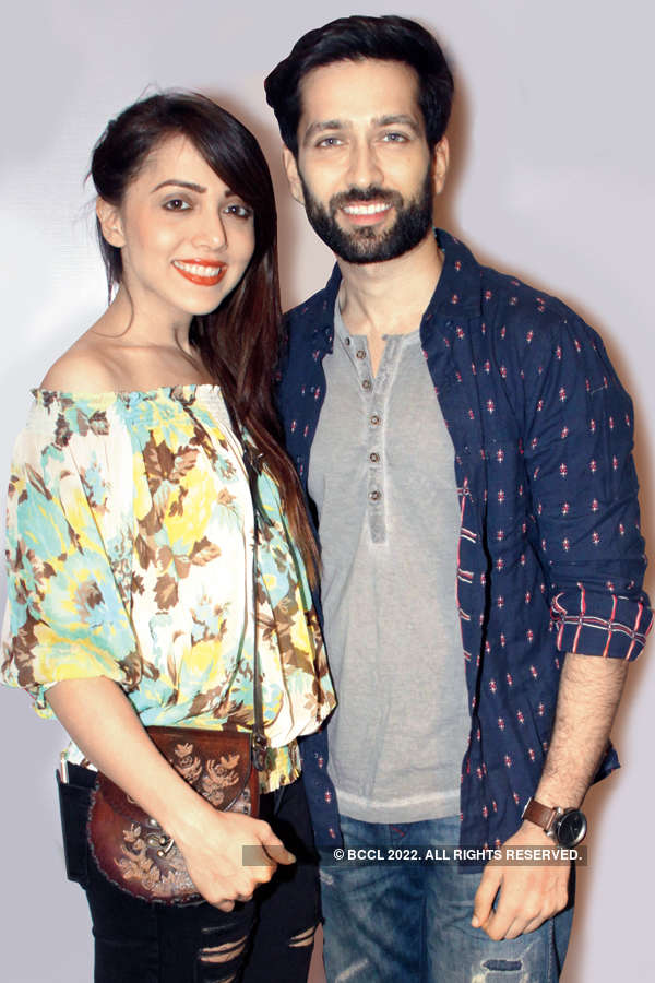 Jankee Parekh And Nakuul Mehta During The New Oulet Launch