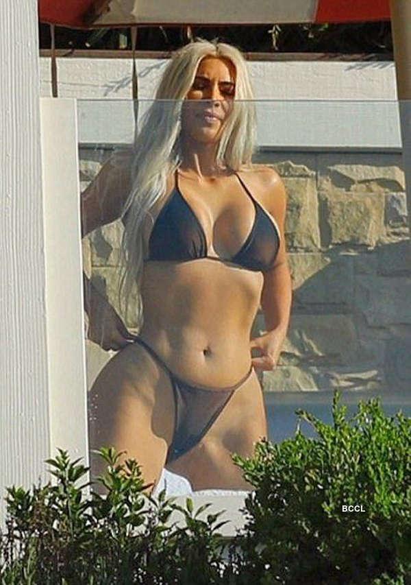 Kim Kardashian Almost Bares It All In A Bathtub Pics Kim