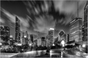 Chicago Skyline from the BP Bridge by Mike Baker