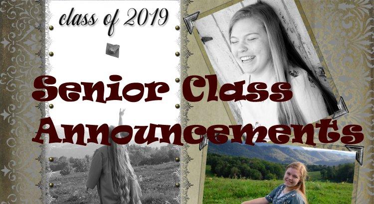 Senior Announcement Photos