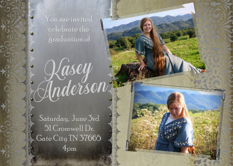 Lace style Senior Announcement