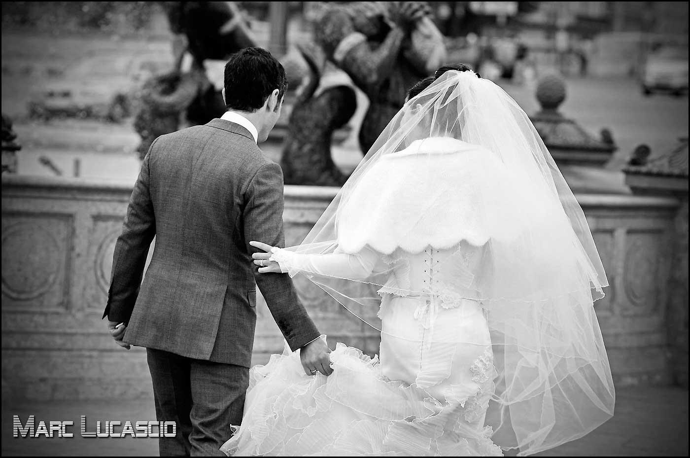 Photo mariage place de la concorde