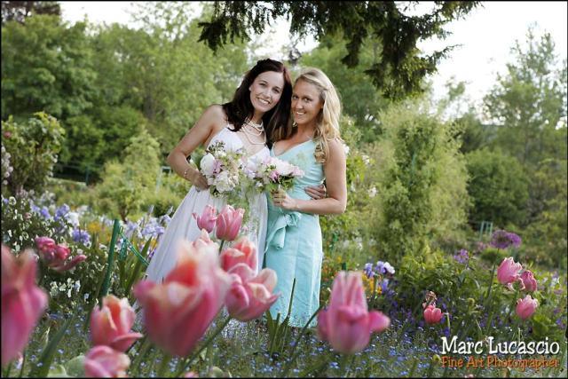 photo de groupe mariage à Giverny
