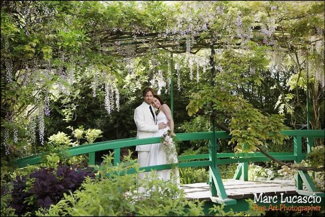 Monet source d'inspiration pour cette photo de mariage