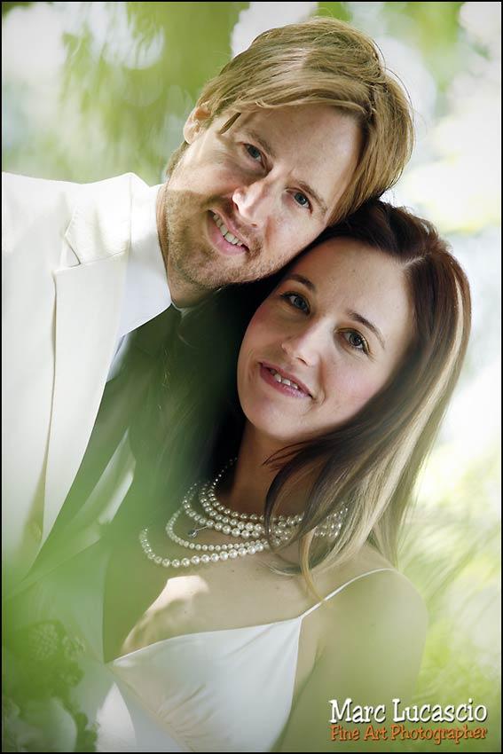 Photographie de portrait des mariés à Giverny.