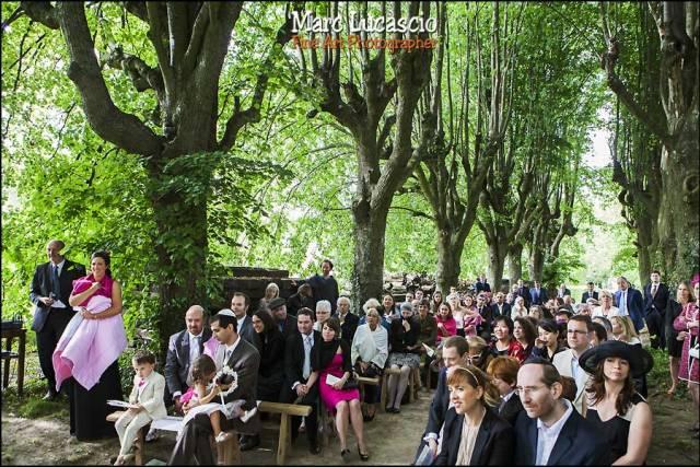 Beau mariage champêtre cérémonie juive