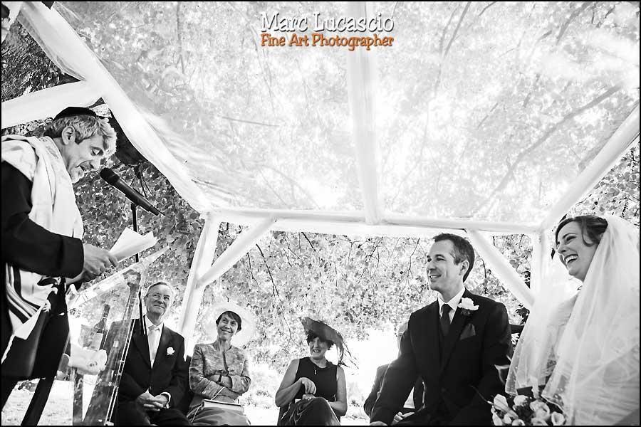 Photo contre plongée mariage juif champêtre