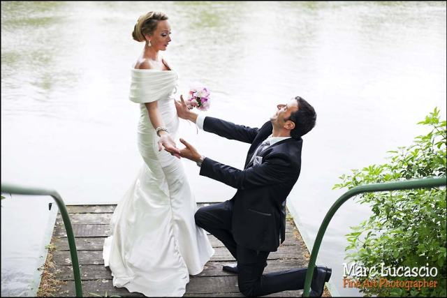 mariage juif photo couple bord de seine