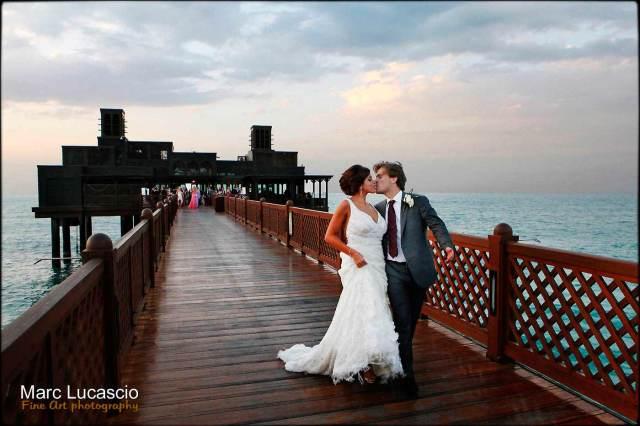 Mariage à la jetée pierchic à Dubaï