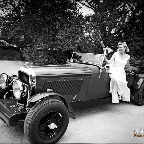 La voiture de la mariée au grand hotel des bains à locquirec
