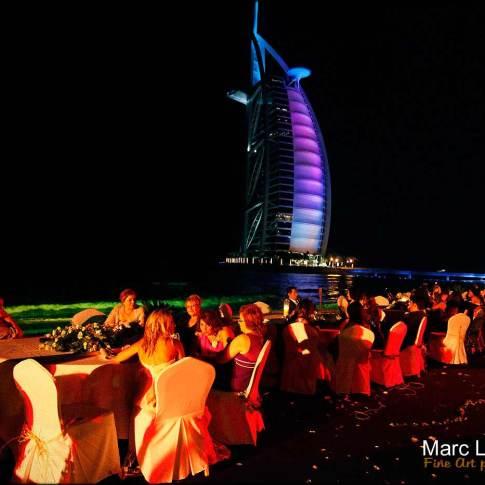 soirée du mariage à Burj al Arab