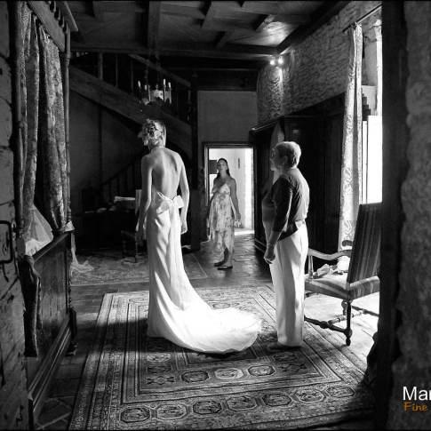 Préparation de mariage Noir et Blanc
