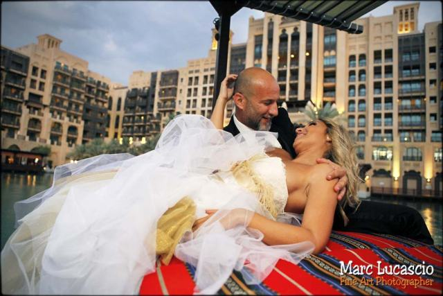 Dubaï photo gondole sur l'eau