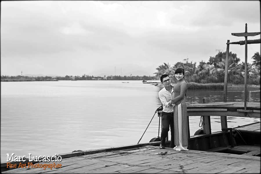 mariage Vietnam péniche sur l'eau