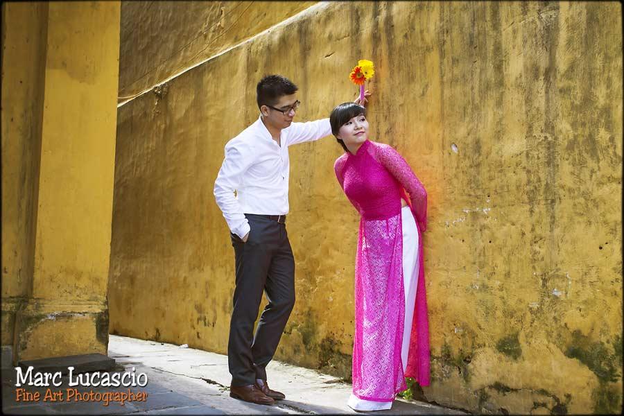 photo de couple hoi an