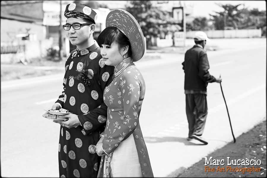 Reportage mariage Vietnam noir et blanc
