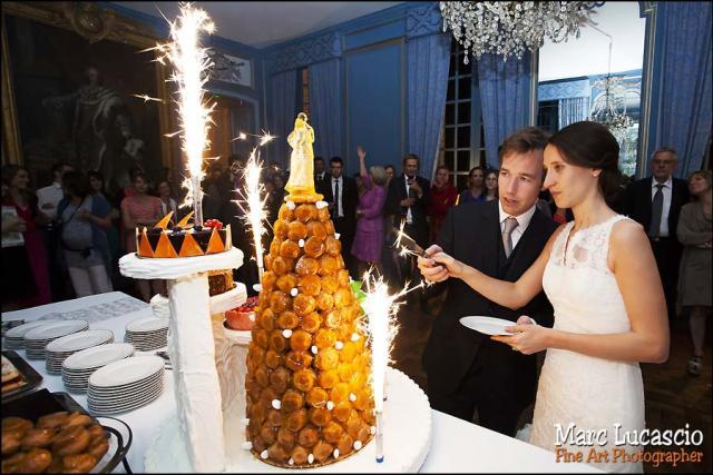 gâteau mariage château de Neuville