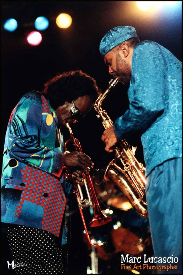 Miles Davis et Kenny Garrett photo argentique
