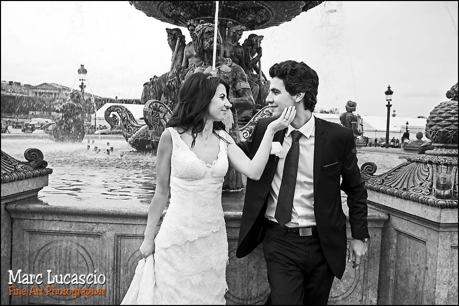 photos mariage couple place de la concorde paris