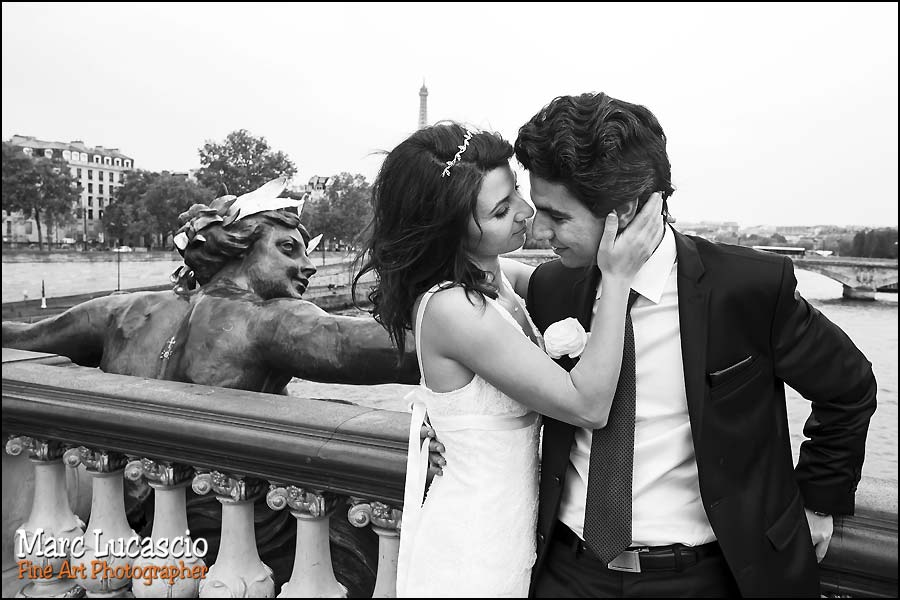 mariage photo paris pont alexandre III