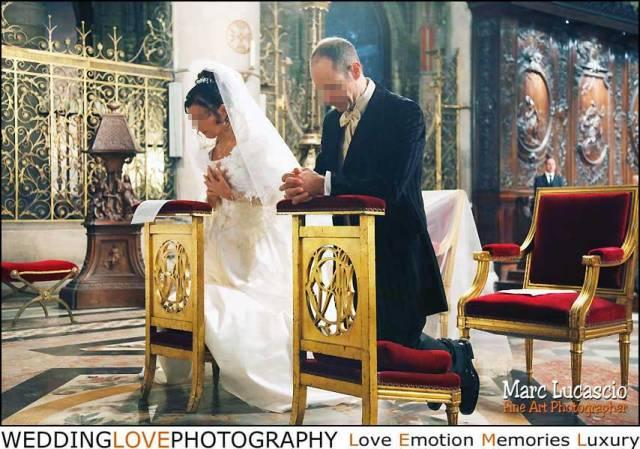 Photo célébration mariage à Notre-dame de Paris.