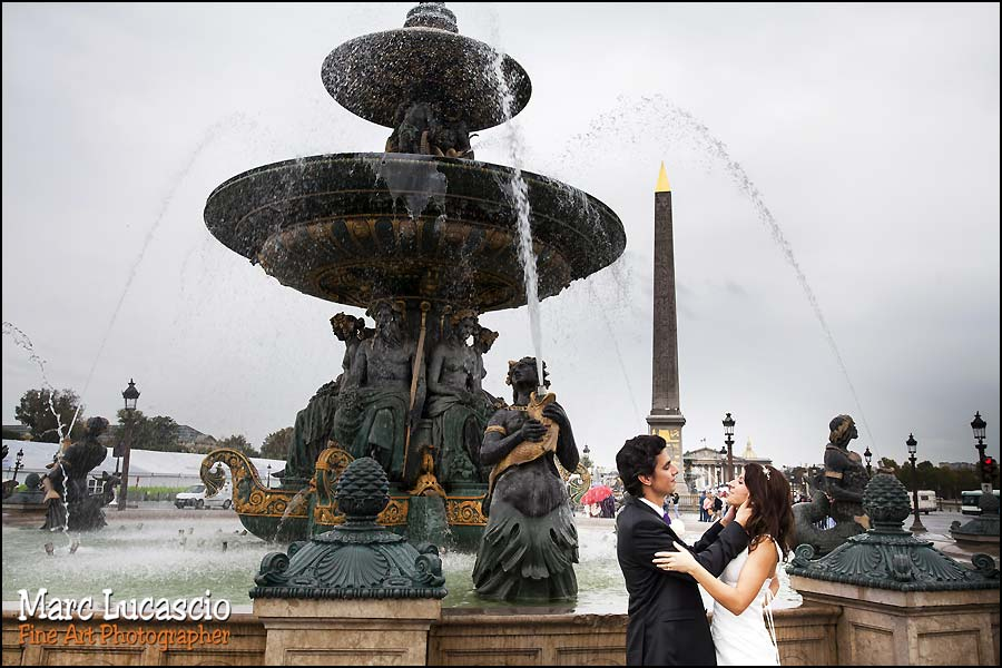 photo mariage Paris place de la Concorde