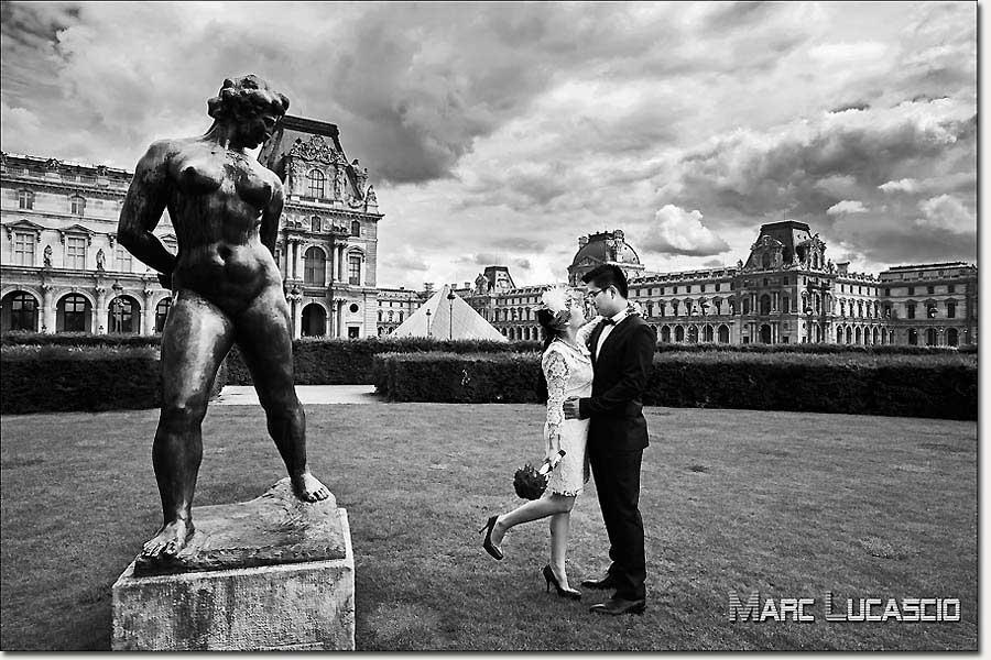 Pre wedding à Paris au Grand Palais