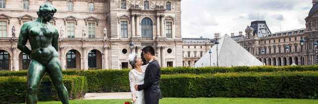 Pre-wedding Paris mariage aux jardins des Tuileries