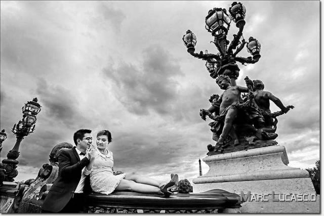 Pre wedding paris pont alexandre III