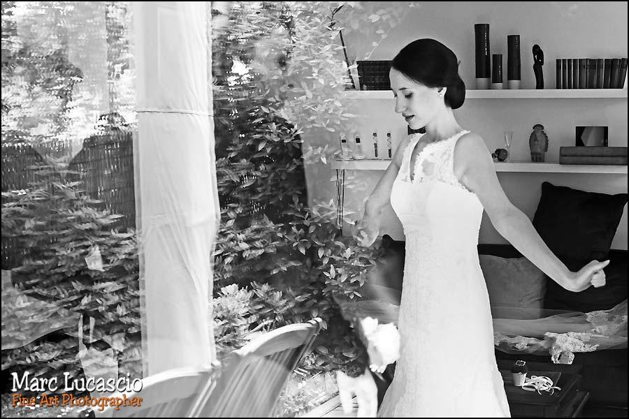 Noir et blanc photos mariage préparation