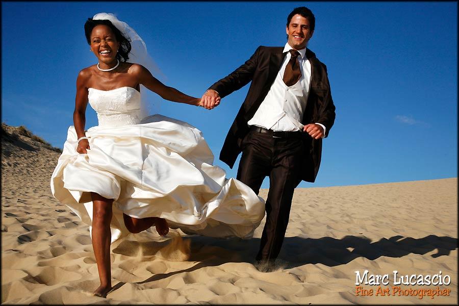 mariés dune du Pyla photo mariage
